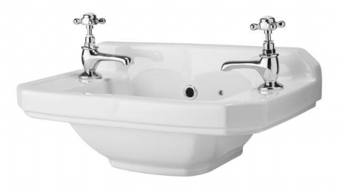 Rockingham 515mm Cloakroom Basin - 2 Tap Hole